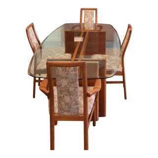 "Mid-Century Modern Schou Anderson Danish Teak ""Fishbone"" Dining Set For Sale"