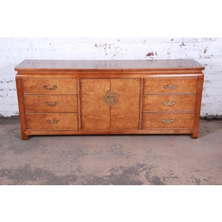 Century Furniture Hollywood Regency Chinoiserie Burl Wood Long Dresser or Credenza Preview