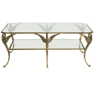Bronze Classical Swan Coffee Table For Sale