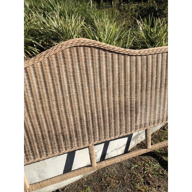 Boho Chic Vintage Rattan King Headboard For Sale - Image 3 of 9