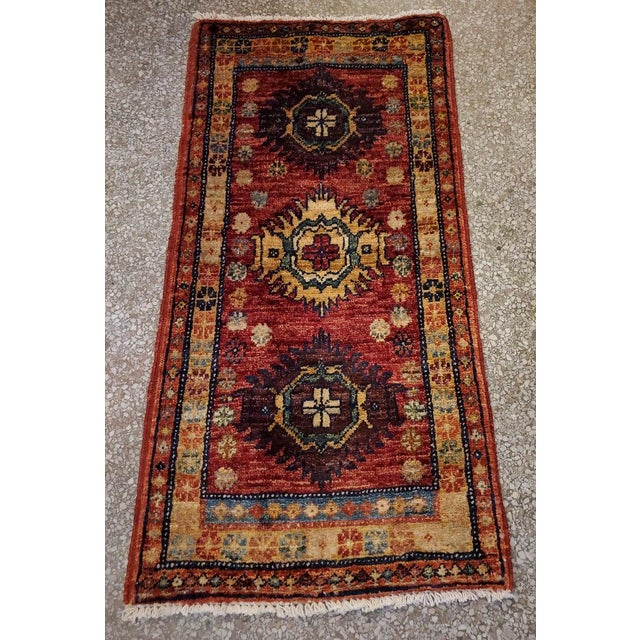 """Afghan Tribal Red Rug-1'8'x3'3"""" For Sale In Orlando - Image 6 of 7"""