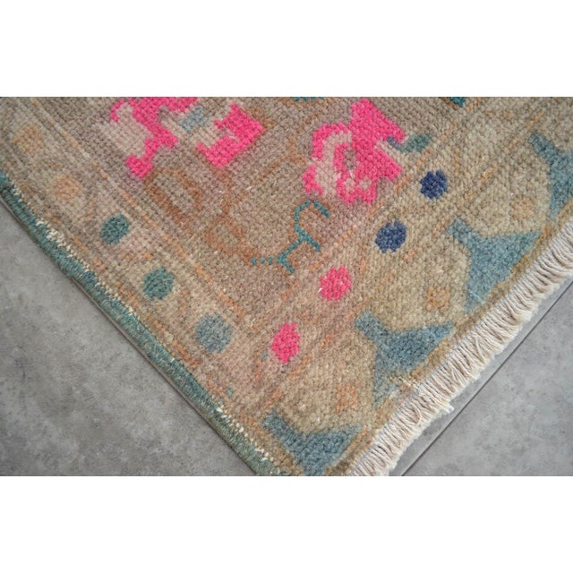 Hand Made Mini Rugs Front Of Kitchen Sink Rug Bath Mat Distressed