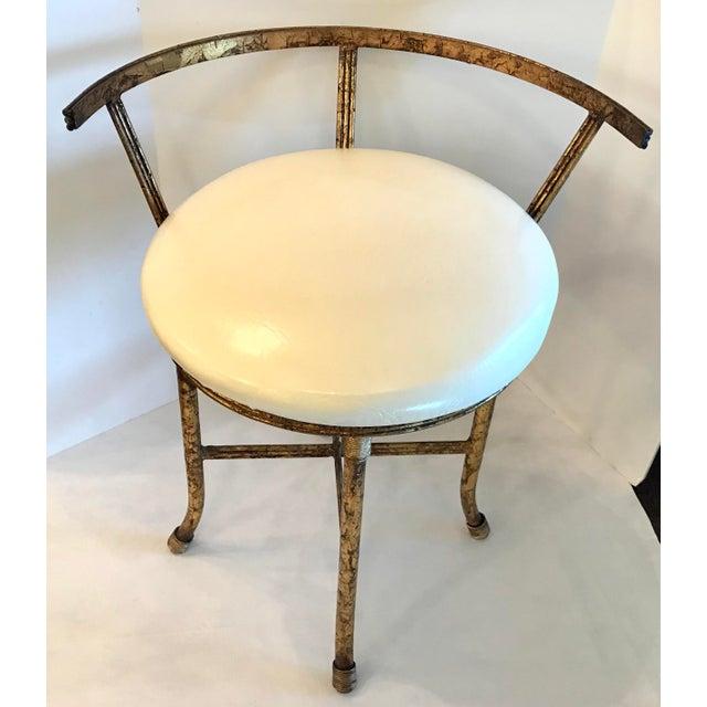 Strange 1920S Vintage Hollywood Regency Gold Vanity Stool Gamerscity Chair Design For Home Gamerscityorg