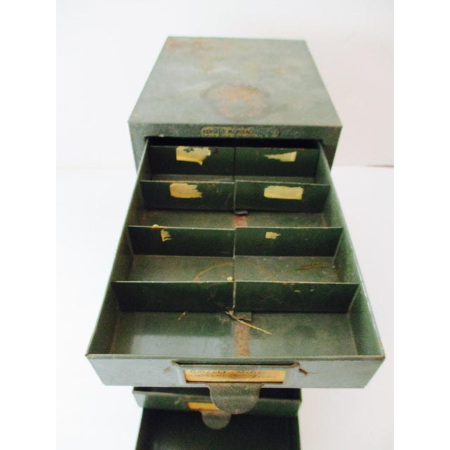 Green Industrial Metal Tool Chest Kennedy Vintage Drawers Cabinet For Sale - Image 8 of 9