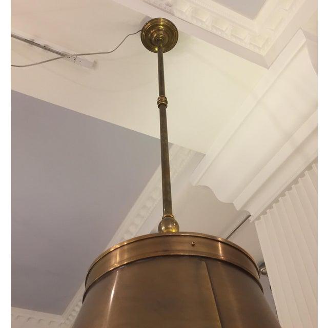 Visual Comfort Brass Hanging Shade Pendant-New - Image 3 of 6