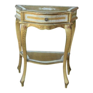 Antique Italian Gilt Florentine Side Table Nightstand End Table For Sale