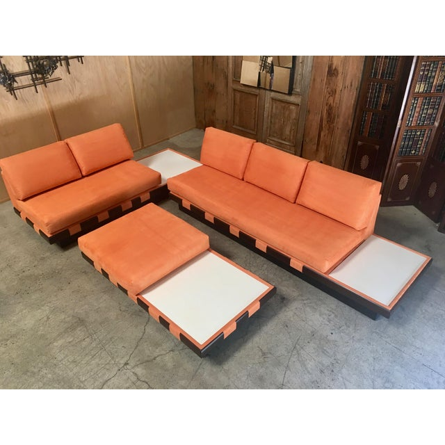 20th Century Adrian Persall Style Sofa Sectional and Coffee Table - 3 Pieces For Sale - Image 13 of 13
