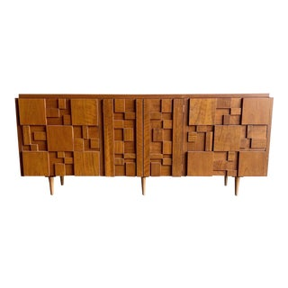 1960s Brutalist Dresser by Lane For Sale
