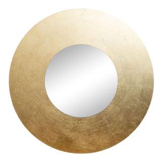 Lago Dorato Vignelli Round Gold Leaf Mirror Vintage Italian For Sale