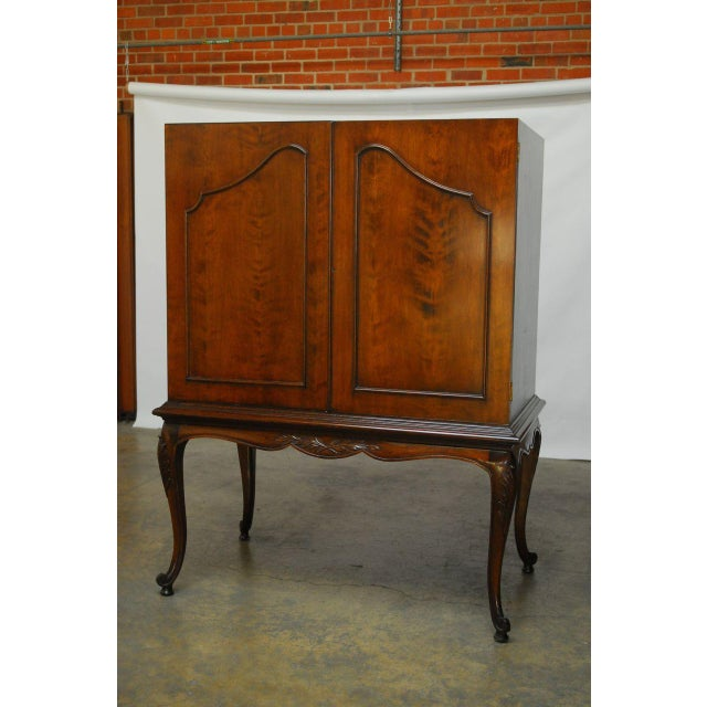 Louis XV Style Carved Walnut Cabinet on Stand - Image 2 of 10