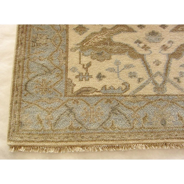 Traditional Indian Oushak Rug - 4′1″ × 5′10″ For Sale - Image 3 of 5