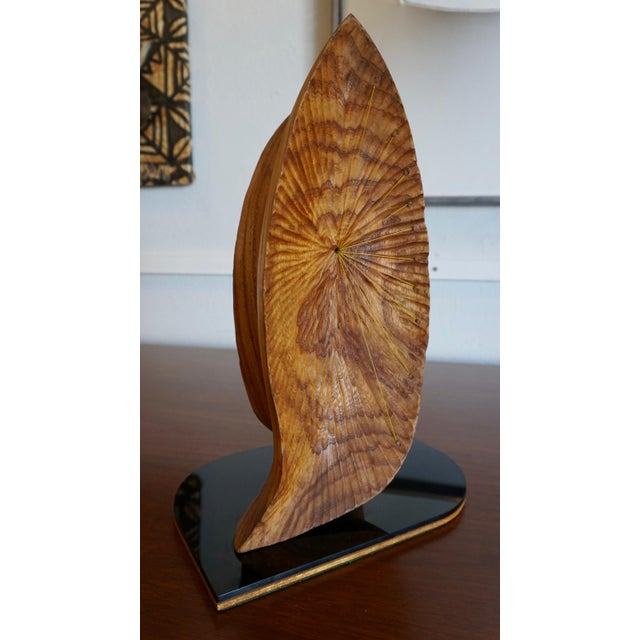"Organic Abstract Oak Wood Sculpture Signed ""Paltridge"" 77 For Sale - Image 4 of 7"