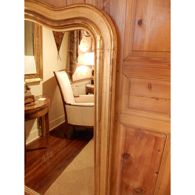 Louis Philippe Gold Gilt Mirror For Sale - Image 4 of 10