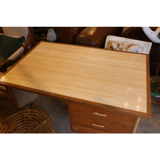 Bamboo Desk and Chair For Sale In Houston - Image 6 of 11