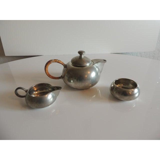 Vintage Decorative Pewter Tea Set. For Sale - Image 10 of 10