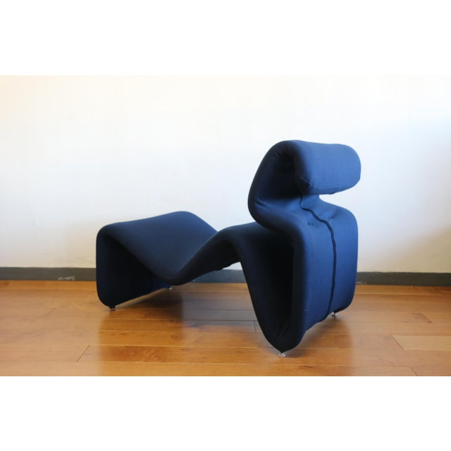 Ribbon Lounge Chair and Ottoman by Oliver Mourgue For Sale - Image 11 of 12