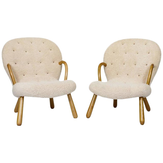 "Pair of Philip Arctander ""Clam"" Chairs - Image 1 of 10"