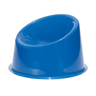 1990s Contemporary Verner Panton Panto Blue Resin Pop Chair