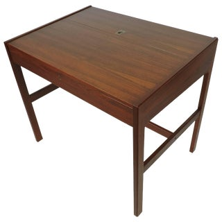 Arne Wahl Iversen Danish Modern Teak Desk or Vanity Table, Model 82 For Sale