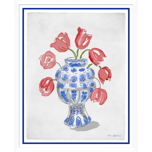 "Contemporary ""Tulipierre"" By Dana Gibson, Framed Art Print For Sale - Image 3 of 3"