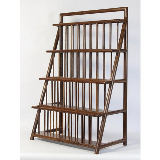 A very unusual and exceptionally well constructed large scale mid-20th century. magazine rack with joinery reflecting...