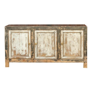 Gorgeous Tashi Asian Painted Sideboard For Sale