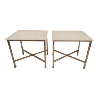 Modern Todd Hase Christelle Cocktail Tables With Onyx Tops - a Pair For Sale
