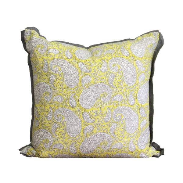 Cotton Block Print Pillow For Sale In Houston - Image 6 of 6