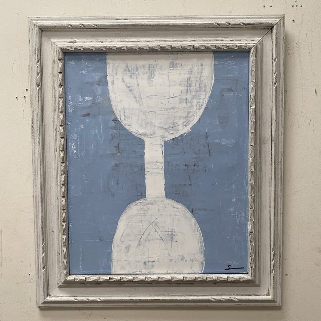 Abstract Mixed-Media Painting, Framed For Sale In Houston - Image 6 of 12