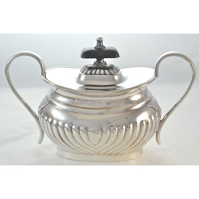 Silver English Sheffield Silver Plate Coffee & Tea Set- 4 Pieces For Sale - Image 8 of 11