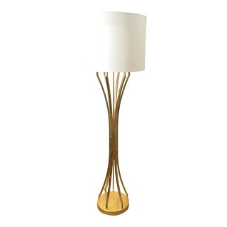 Contemporary Worlds Away Gold Harding Floor Lamp For Sale