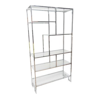 Midcentury Chrome, Milo Baughman Etagere For Sale