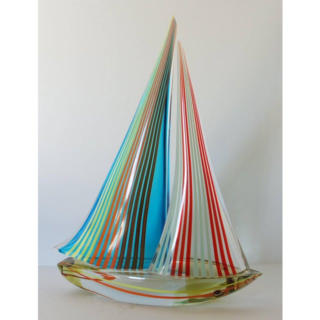 Modern Murano Sailboat by Alberto Dona' For Sale - Image 3 of 9