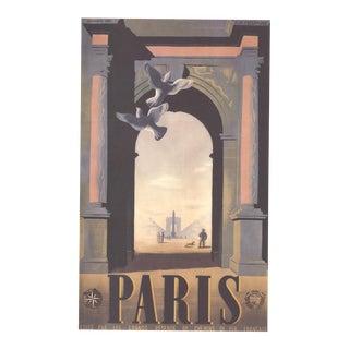 """A.M. CASSANDRE Paris 27.5"""" x 19.75"""" Poster 1998 Vintage Gray, Brown - a Pair For Sale"""