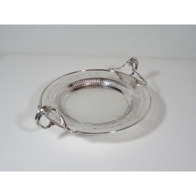 Art Deco 1930s Silver Plate Serving Bowl For Sale - Image 3 of 9
