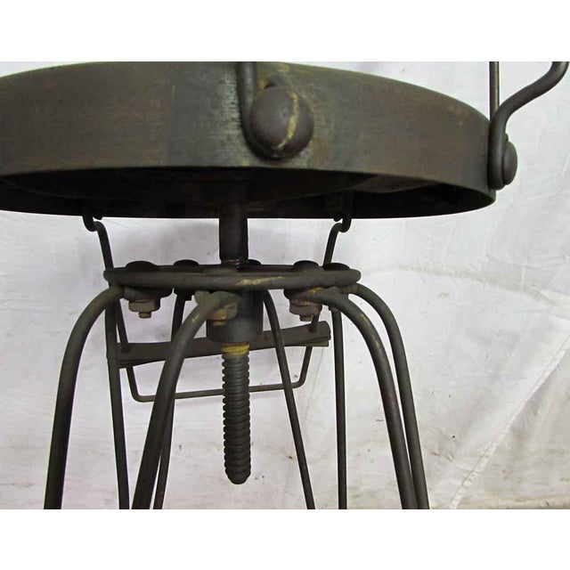 Unique Traditonal Industrial Cast Iron High Stool For Sale - Image 10 of 10