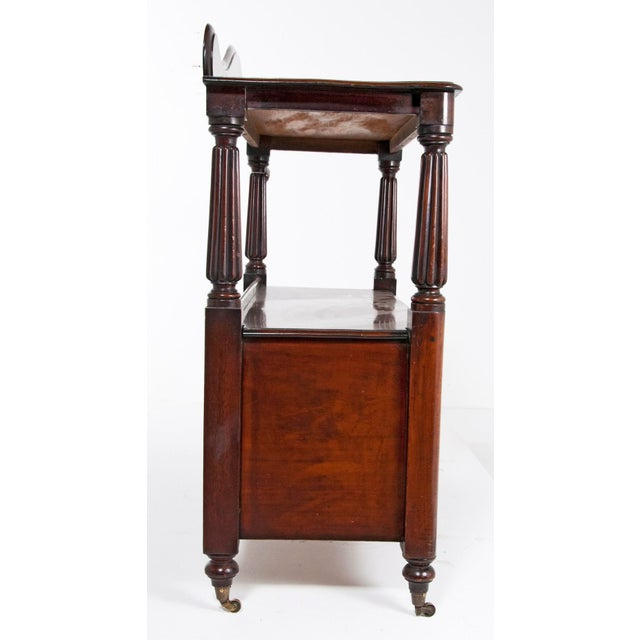 Traditional 19th Century English Mahogany Server For Sale - Image 3 of 7