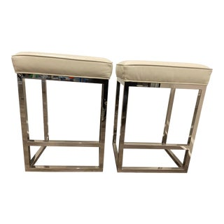 Mitchell Gold Bob Williams Stools- A Pair For Sale