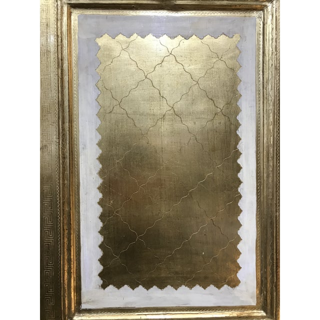 Metal 20th Century Italian Giltwood Florentine Room Divided Screen Hollywood Regency For Sale - Image 7 of 13