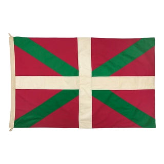 Tea Stained Cotton Flag of Basque Country For Sale