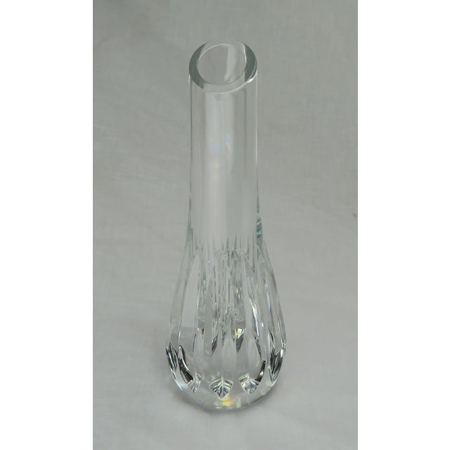 "Cut crystal Baccarat bud vase. Stamped ""Baccarat""."