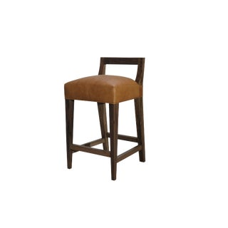 Costantini Ecco Stool in Argentine Rosewood and Leather For Sale
