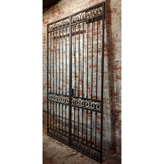 Vintage Mid Century Double Doors Iron Gate Preview