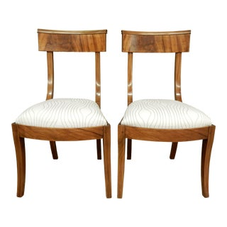 Pair of Neo-Classical Empire Side Chairs For Sale