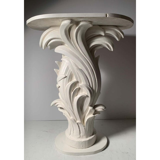 Serge Roche Vintage Plaster Console in manner of Serge Roche For Sale - Image 4 of 13