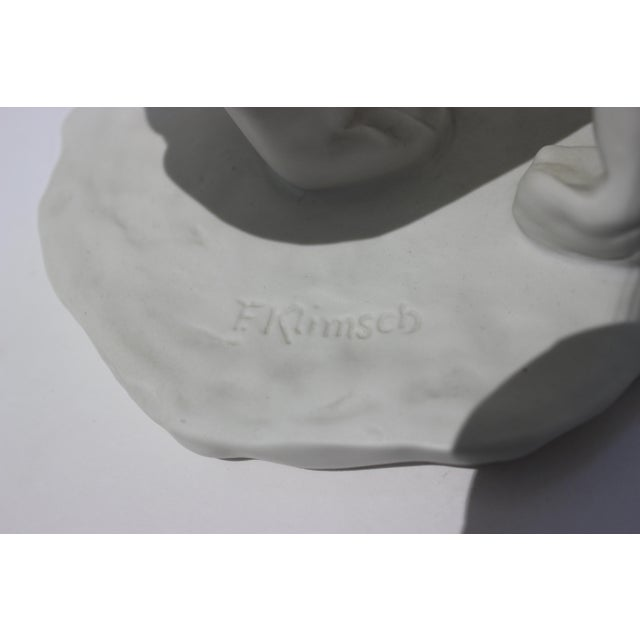 """Ceramic Vintage Rosenthal Sculpture """"Die Hockende"""" Fritz Klimsch Large Size Model For Sale - Image 7 of 13"""
