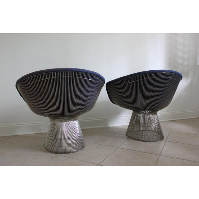 Mid-Century Modern Mid-Century Modern Warren Platner for Knoll Lounge Chairs - a Pair For Sale - Image 3 of 11