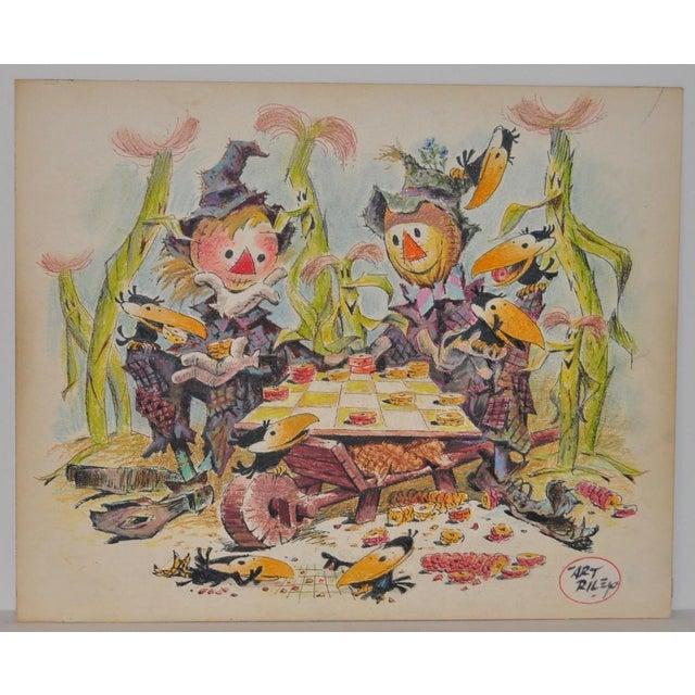 "Art Riley (1911-1998) Original Cartoon ""Checkers"" c.1960s Art Riley began working at the Disney Studios in the 1930s,..."