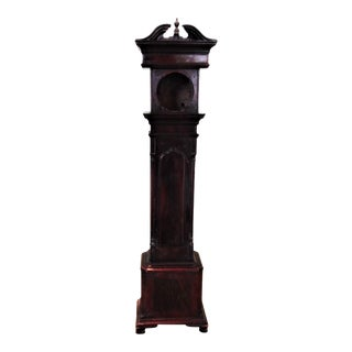Early 19th Century Mahogany Case Clock Form Watch Holder For Sale