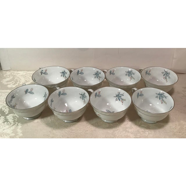 Ceramic Mid-Century Bavarian China Cups & Saucers For Sale - Image 7 of 11